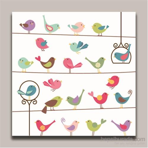 Dolce Home Dekoratif Kuşlar Tablo