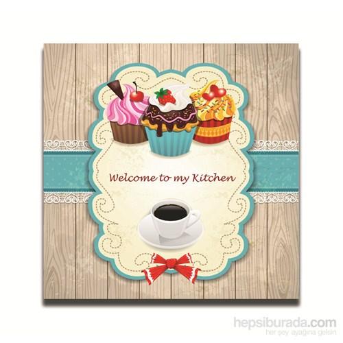 Dolce Home Dekoratif Mutfağıma Hoşgeldiniz Yazılı Tablo