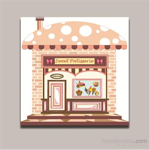 Dolce Home Dekoratif Sweet Patisserie Yazılı Tablo