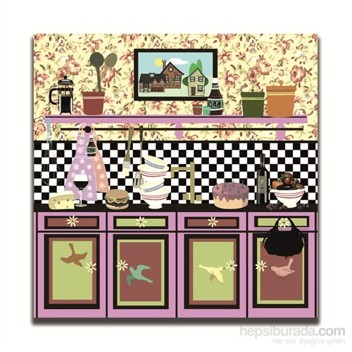 Dolce Home Dekoratif Mutfak Temalı Tablo 2