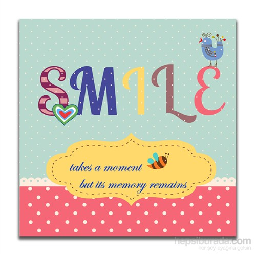 Dolce Home Dekoratif Smile Yazılı Tablo