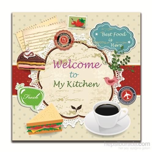 Dolce Home Dekoratif Mutfağıma Hoşgeldiniz Yazılı Tablo 8