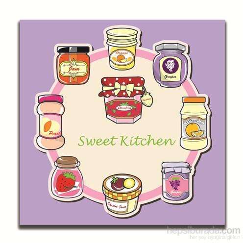 Dolce Home Dekoratif Sweet Kitchen Yazılı Tablo