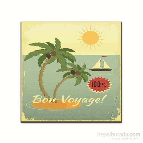 Dolce Home Retro Bon Voyage Tablo 7