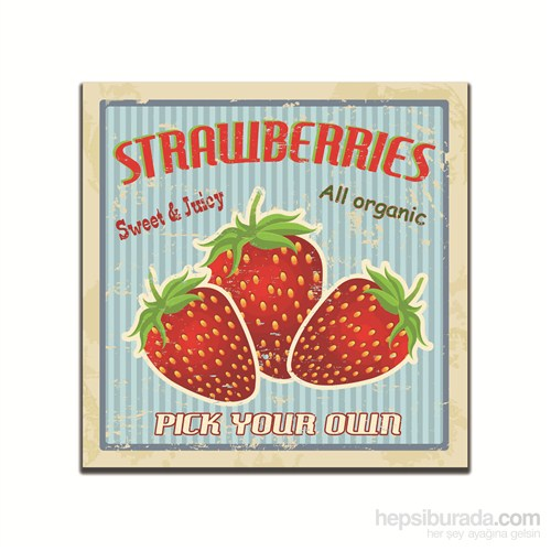 Dolce Home Retro Strawberries Tablo 3