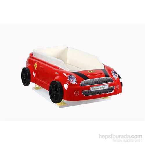 Arabalı Beşik Kırmızı