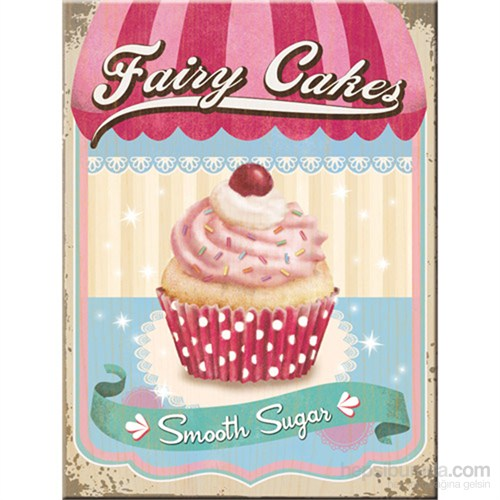 Fairy Cakes - Smooth Sugar Magnet