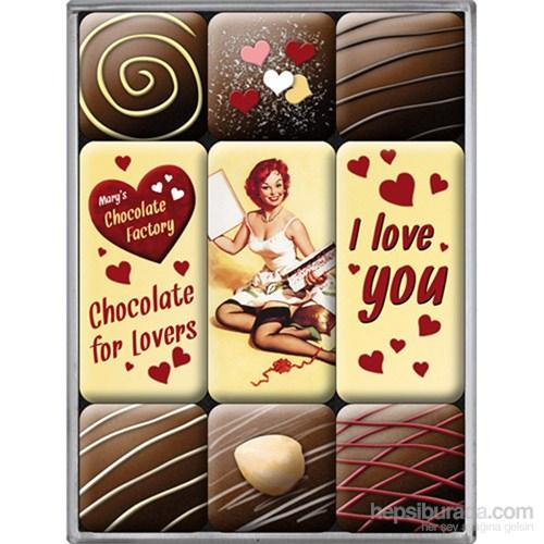 I Love You Chocolate Magnet Set (9 Parça)