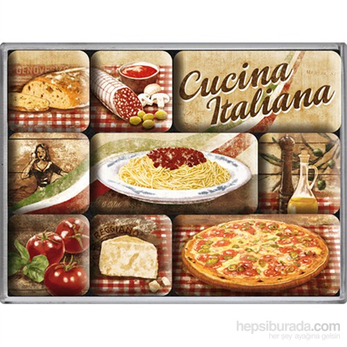 Cucina Italiana Magnet Set (9 Parça)