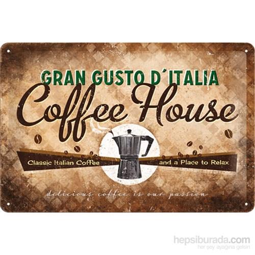Coffee House Metal Kabartmalı Duvar Panosu