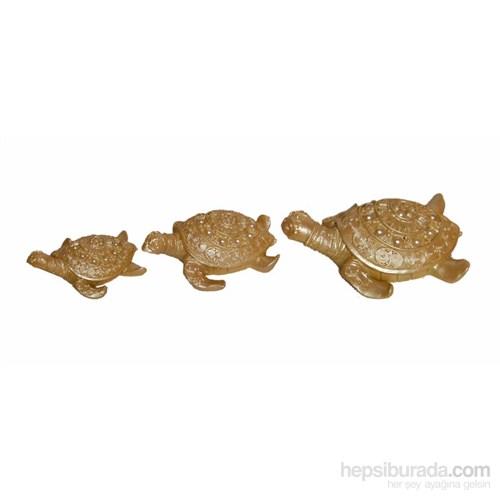Dekoratif İncili 3'lü Sedef Kaplumbağa Süsü