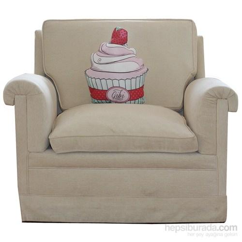 Çilekli Cupcake Tasarım Yastık
