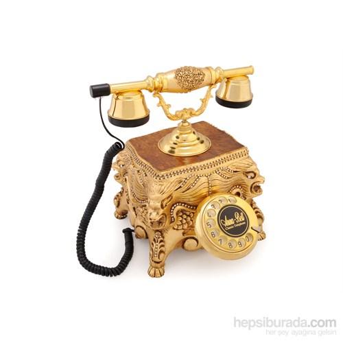Altın Varaklı Aslanlı Swarovski Taşlı Telefon