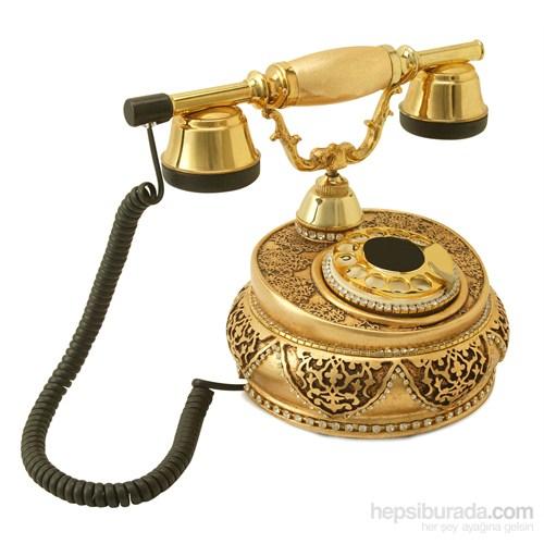 Villa Altın Varaklı Zirkon Taşlı Telefon