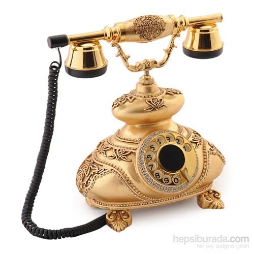 İtalyan Altın Varaklı Swarovski Taşlı Telefon