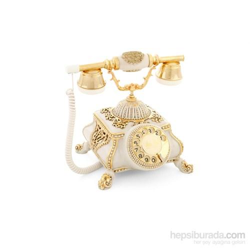 Osmanlı Kemik Varaklı Zirkon Taşlı Telefon