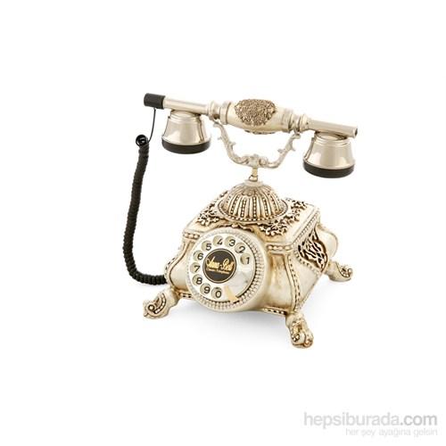 Osmanlı Gümüş Varaklı Zirkon Taşlı Telefon
