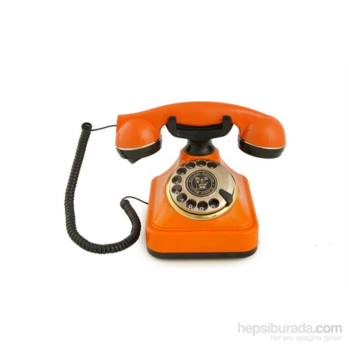 Anna Bell Klasik Çevirmeli Turuncu Telefon