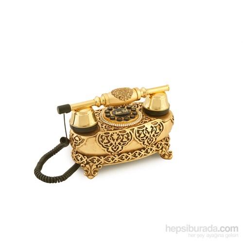 İtalyan Yatık Altın Varaklı Telefon