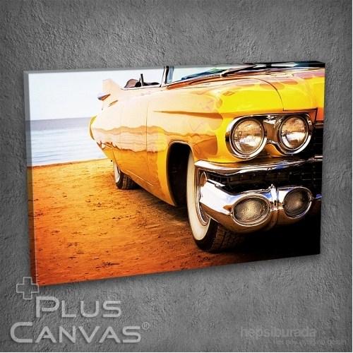 Pluscanvas - Sarı Cadillac Tablo
