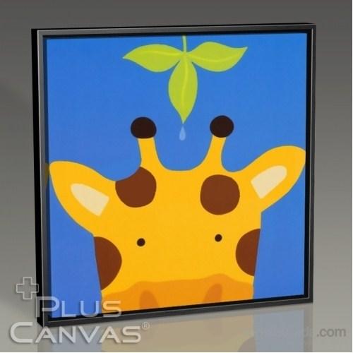 Pluscanvas - Giraffe And The Leaf Tablo