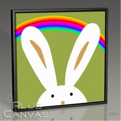 Pluscanvas - Bunny And The Rainbow Tablo
