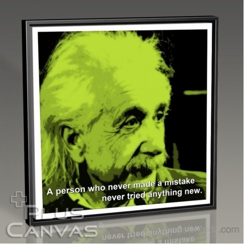Pluscanvas - Albert Einstein - Mistake Tablo