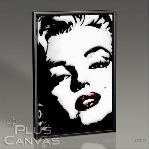 Pluscanvas - Marilyn Monroe - Glamorous Pop Art Tablo