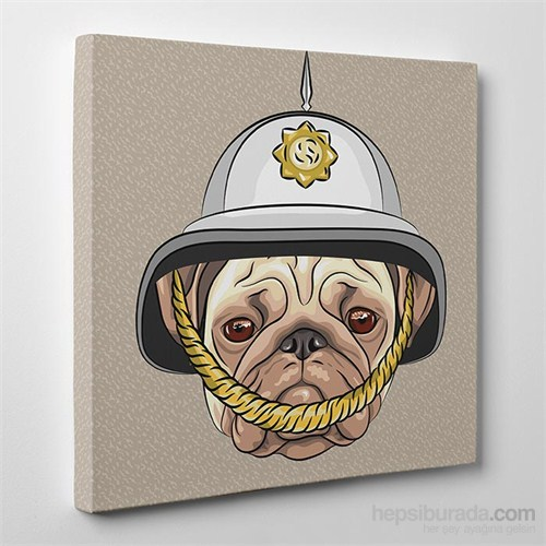 Tabloshop Police Bulldog Kanvas Tablo