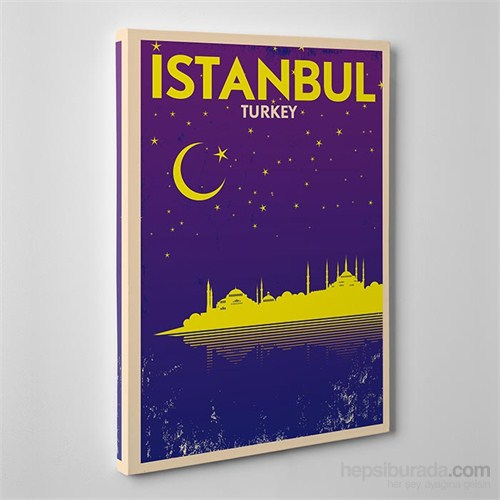 Tabloshop Istanbul Night Kanvas Tablo