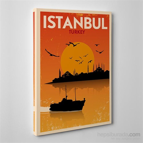 Tabloshop Istanbul Sunset Kanvas Tablo