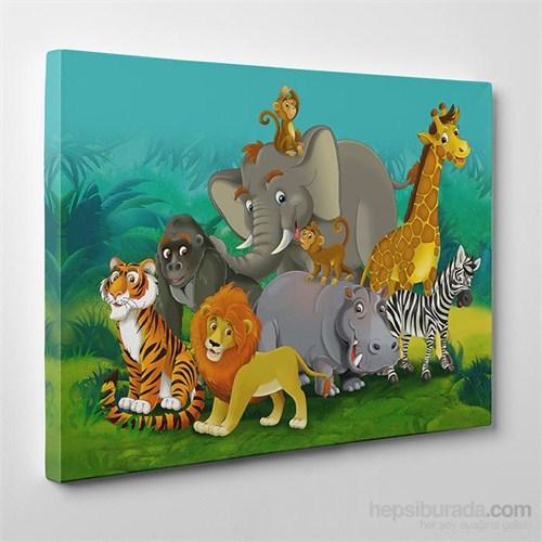 Tabloshop Orman Hayvanları Kanvas Tablo