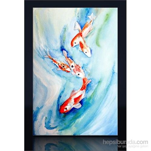 Japon Balıkları Kanvas Tablo