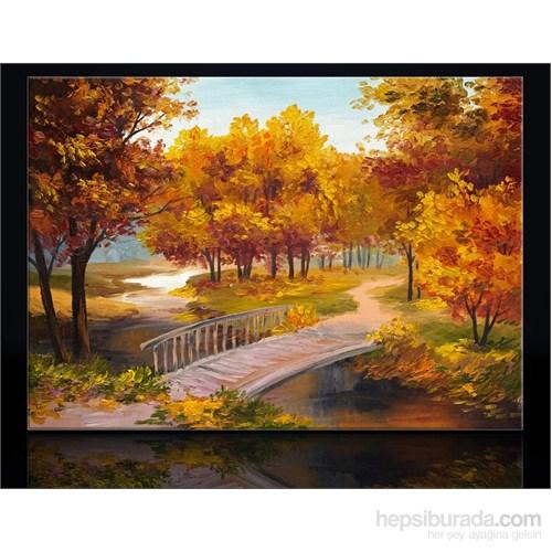Yağlıboya Sonbahar Orman Kanvas Tablo