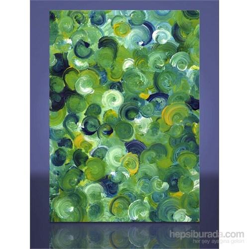 Yeşil Soyut Kanvas Tablo