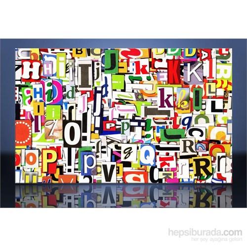 Harfler Kanvas Tablo