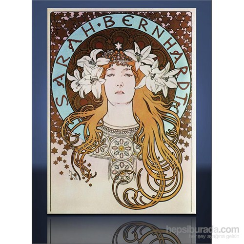 Sarah Bernhardt Kanvas Tablo