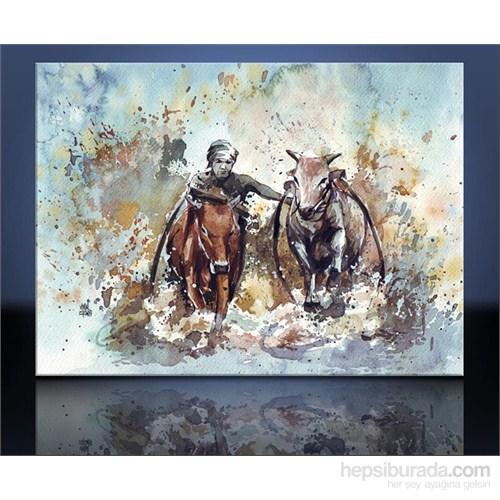 Suda Hayvanlar Kanvas Tablo