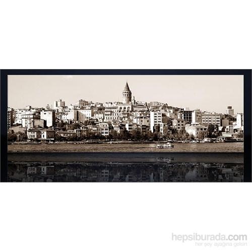 İstanbul Galata Siyah Beyaz Kanvas Tablo