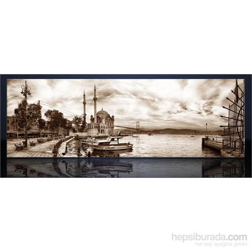 İstanbul Ortaköy Siyah Beyaz Kanvas Tablo
