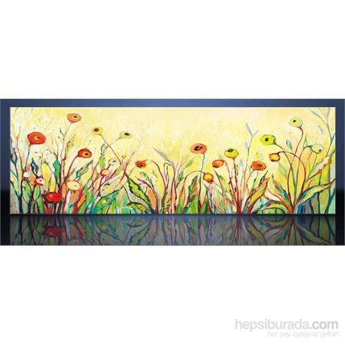 Çizim Çiçekler Kanvas Tablo