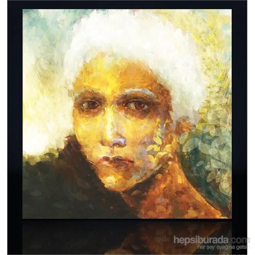 Beyaz Saçlı Kadın Kanvas Tablo