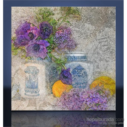 Vazoda Çiçek Kanvas Tablo