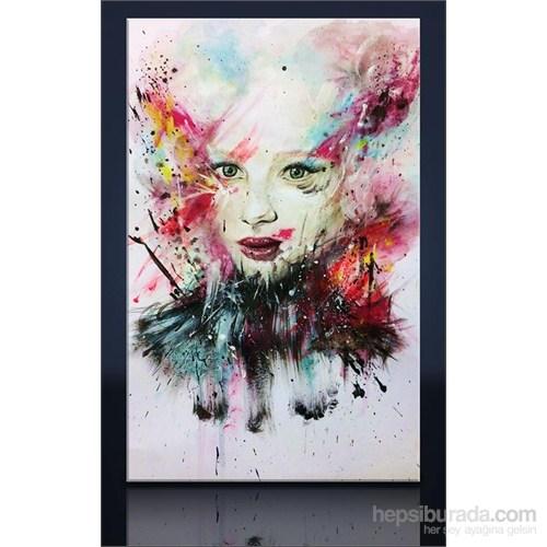 Çizim Kadın Yüzü Kanvas Tablo