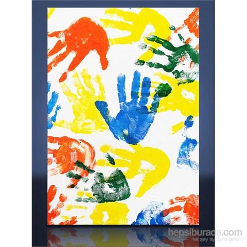 Renkli Eller Kanvas Tablo