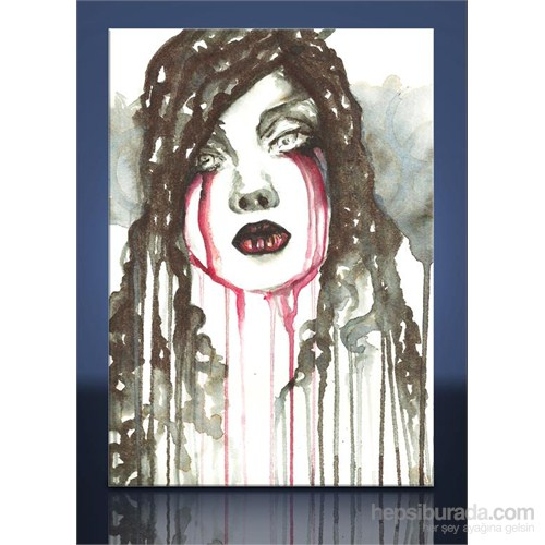 Kan Gözyaşı Kanvas Tablo