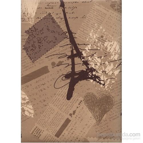 Kule Kahverengi Emboss Duvar Kağıdı