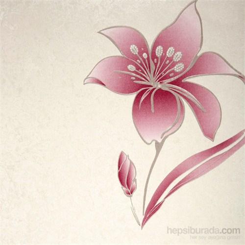 Çiçek Bordo Vinyl Duvar Kaplaması