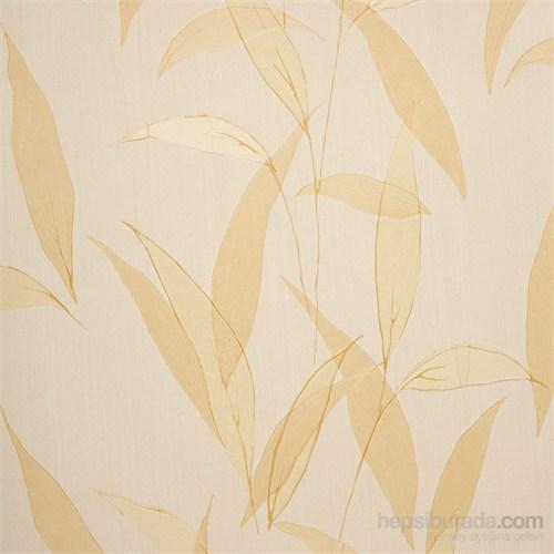 Yaprak Altın Vinyl Duvar Kaplaması.