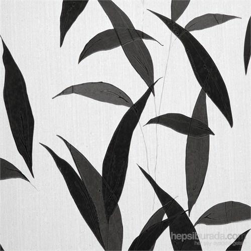Yaprak Siyah Vinyl Duvar Kaplaması.